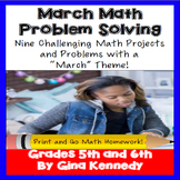 March Math Problem Solving Projects for Upper Elementary Students