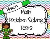 March Math Problem Solving Tasks