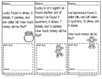 March Math Problem Solving Tasks