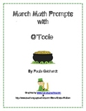 March Math Prompts St. Patricks Day