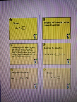 March Math Sheets-Common Core Practice Problems