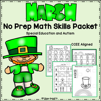 March Math Skills Packet - Special Education and Autism