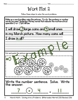 March Math:  Solving Story Problems