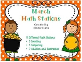 March Math Stations
