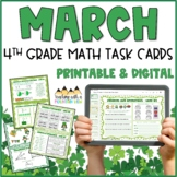 March Math Task Cards for 4th Grade Common Core *All Stand