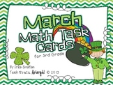 March Math Task Cards for Third Grade