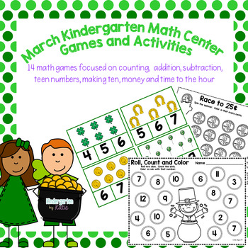 March Math Tubs Games and Activities