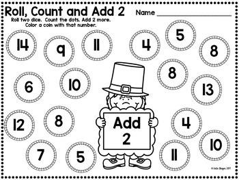 March Kindergarten Math Center Games and Activities