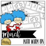 March Math Warm Ups - Differentiated for 2 levels!