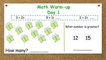 March Math Warm-ups