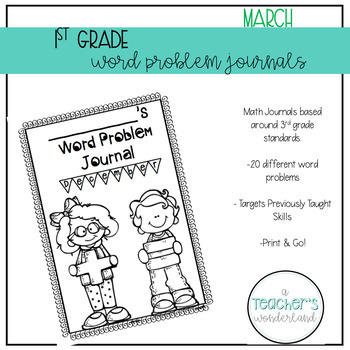 1st Grade March Math Word Problems
