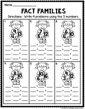 March Math Worksheets for 1st Grade
