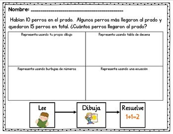 March Math Stations in Spanish - Estaciones de Matemáticas en Español