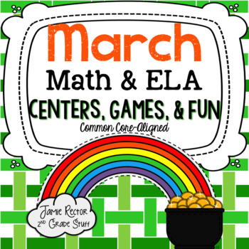 March Math & ELA Centers, Games, & Fun! {12 Activities Aligned to CCSS}