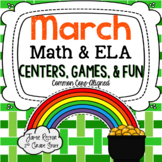 March Math & ELA Centers, Games, & Fun! {12 Activities Ali
