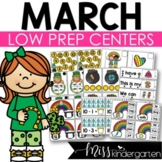Low Prep March Centers | Math and Literacy Centers