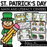 March Math and Literacy Centers {kindergarten}