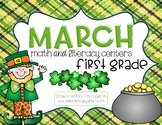 March Math and Literacy Centers {first grade}