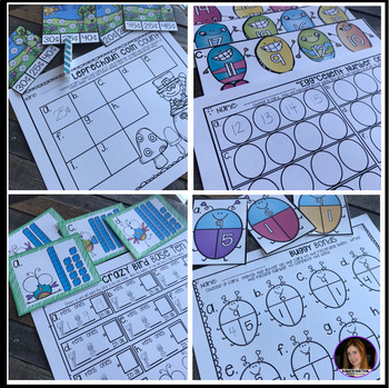 Spring into March Math and Literacy Centers for Kindergarten {CCSS}