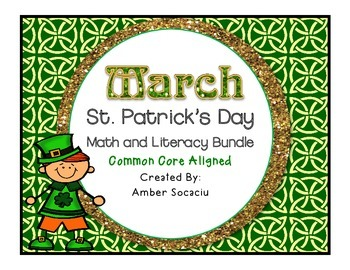 March Math and Literacy Centers for St. Patrick's Day