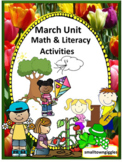 March Unit Cut and Paste Worksheets Spring Math & Literacy Activities