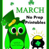 1st & 2nd Grade Math and Literacy Printables - March