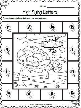 March Math and Literacy Printables and Activities For Kindergarten