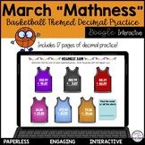Basketball Math Digital Activity