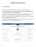 2018 March Mathness Madness NCAA Basketball Probability an