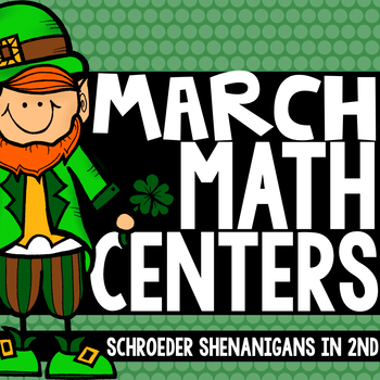 March Math Centers - math facts, place value, fact fluency, fact sort
