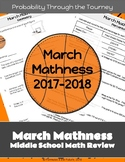 March Mathness Madness Middle School Math - Probability