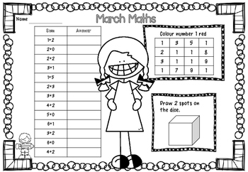 March Maths Activity Pack