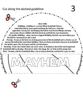 MARCH MAYHEM BASKETBALL FLIP BOOK