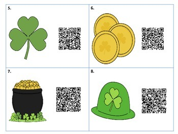 March Measurement with Money using QR Codes for St. Patrick's Day
