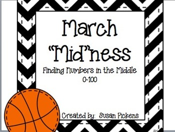 """March """"Mid""""ness {Finding Middle Numbers 0-100}"""