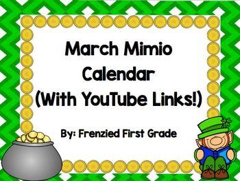 March Mimio Calendar
