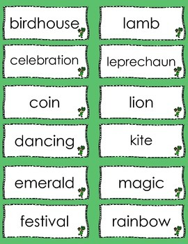 March Mini-Word Wall and Cards