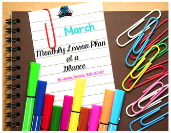 March Month At A Glance Lesson Plan