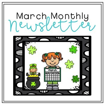 March Monthly Newsletter [EDITABLE]