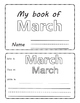 March . Months of the Year. Flipbook.