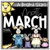 March Morning Bright {Kindergarten Math Morning Work}