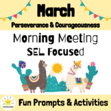 March Morning Meeting Slides & Workbook: Social Emotional