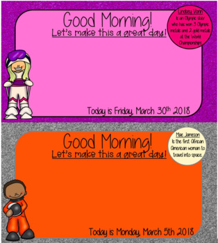 March+Women's History  Morning Message Bundle