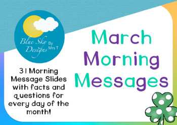 March Morning Message Set