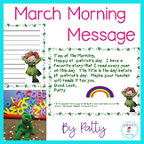 March Morning Message - Morning Work for for Traditional and Digital Classrooms!