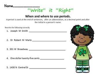 March Morning Wake-Up  Language and Math