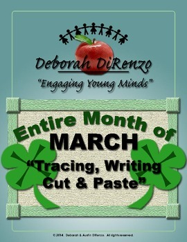 March Morning Work - Entire month of word tracing, writing, cut and paste.