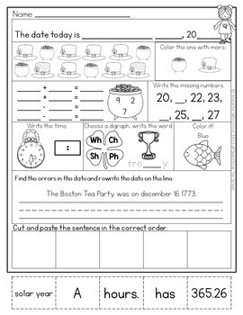March Morning Work {First Grade}