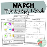 March Morning Work | For Upper Elementary | ELA and Math Review
