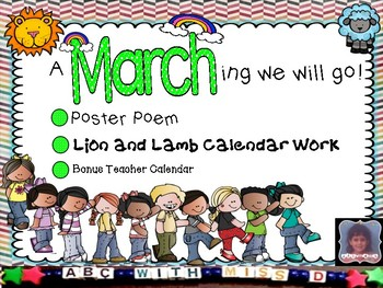 March Morning Work- Lion and Lamb Calendar Tallying and Po